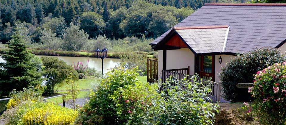 View of Blagdon Farm Fishing Lake and Wagtail - a one bedroom lodge