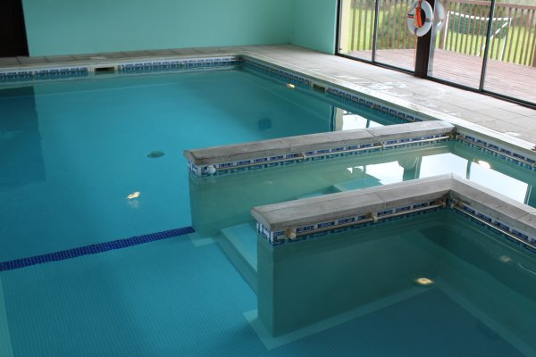 Swimming Pool showing the steps - ideal for disabled people