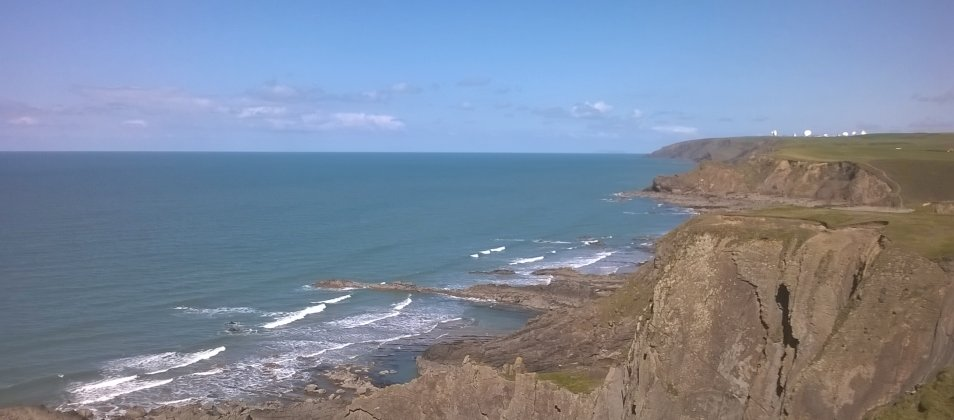 Cornish Coast near Bude - just a few miles from Blagon Farm